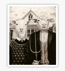 Green acres Sheeple Sticker