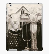 Green acres Sheeple iPad Case/Skin