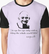 Gandhi Quote An Eye for An Eye Graphic T-Shirt