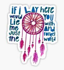 IF I LAY HERE | Chasing Cars by Snow Patrol lyrics Sticker