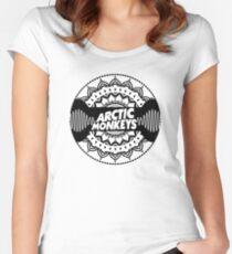 Arctic Monkeys   Mandala Circle Print T-Shirt Women's Fitted Scoop T-Shirt