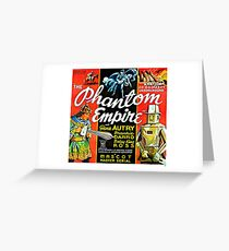 Vintage Science Fiction Robot Phantom Empire Greeting Card