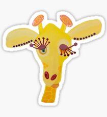 WHIMSICAL GIRAFFE | Hand Painted Sticker