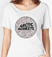 Arctic Monkeys | Flower Circle Logo [black] Women's Relaxed Fit T-Shirt