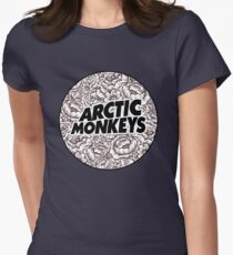 Arctic Monkeys | Flower Circle Logo [black] Womens Fitted T-Shirt