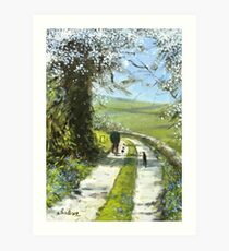 We will stop for tea and cake on the way back. Art Print