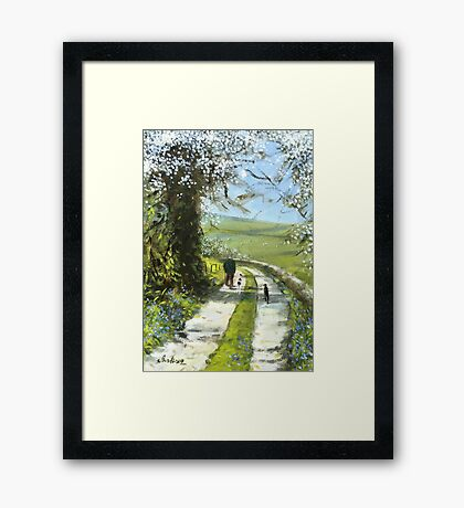 We will stop for tea and cake on the way back. Framed Print