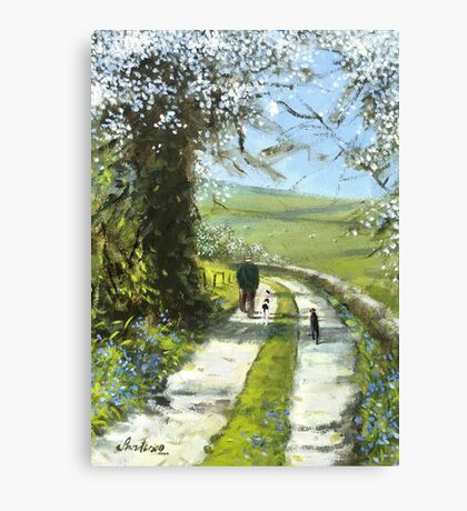We will stop for tea and cake on the way back. Canvas Print
