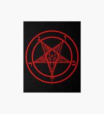 Inverted Pentagram with Baphomet Goat Art Board