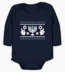 Funny Hanukkah Ugly Holiday Sweater One Piece - Long Sleeve