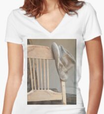 Hat &  Chair # 3 Women's Fitted V-Neck T-Shirt