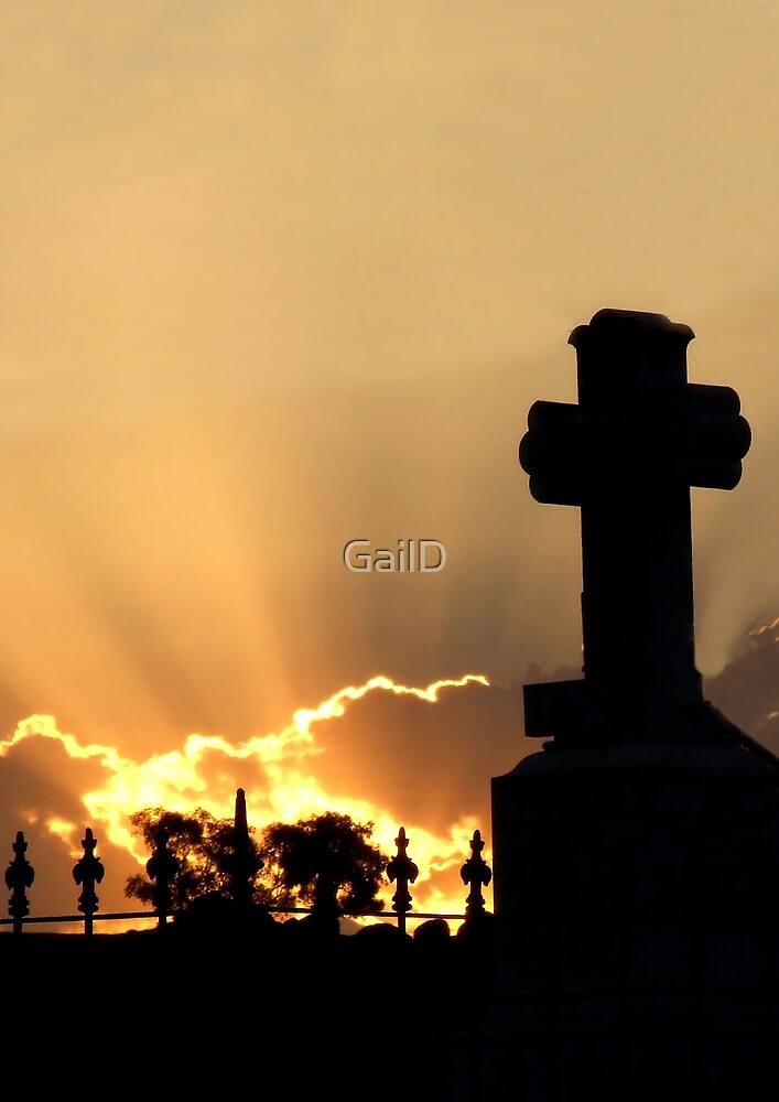 Graveyard Sunset by GailD