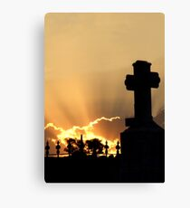 Graveyard Sunset Canvas Print