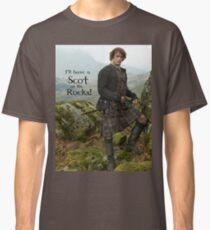 Camiseta clásica ¡Tendré un escocés en las rocas!