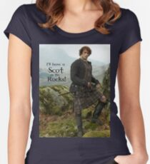 I'll have a Scot on the Rocks!  Women's Fitted Scoop T-Shirt