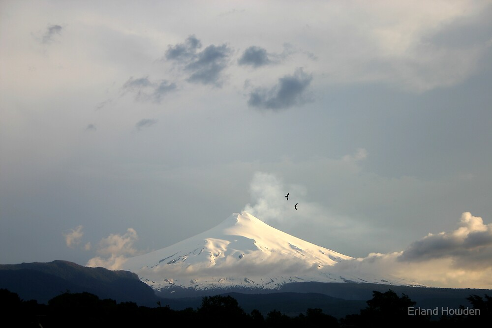 Active Volcano, Pucon, Chile by Erland Howden