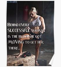 Behind Every Successful Woman Poster
