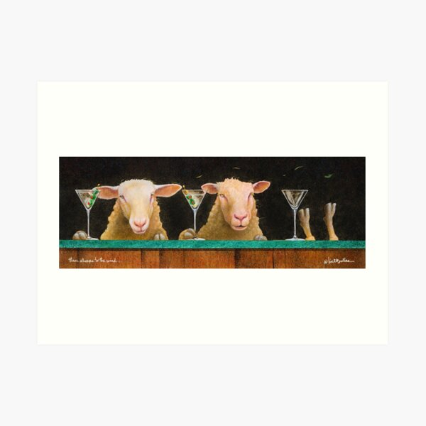 Will Bullas / three sheeps to the wind... Art Print