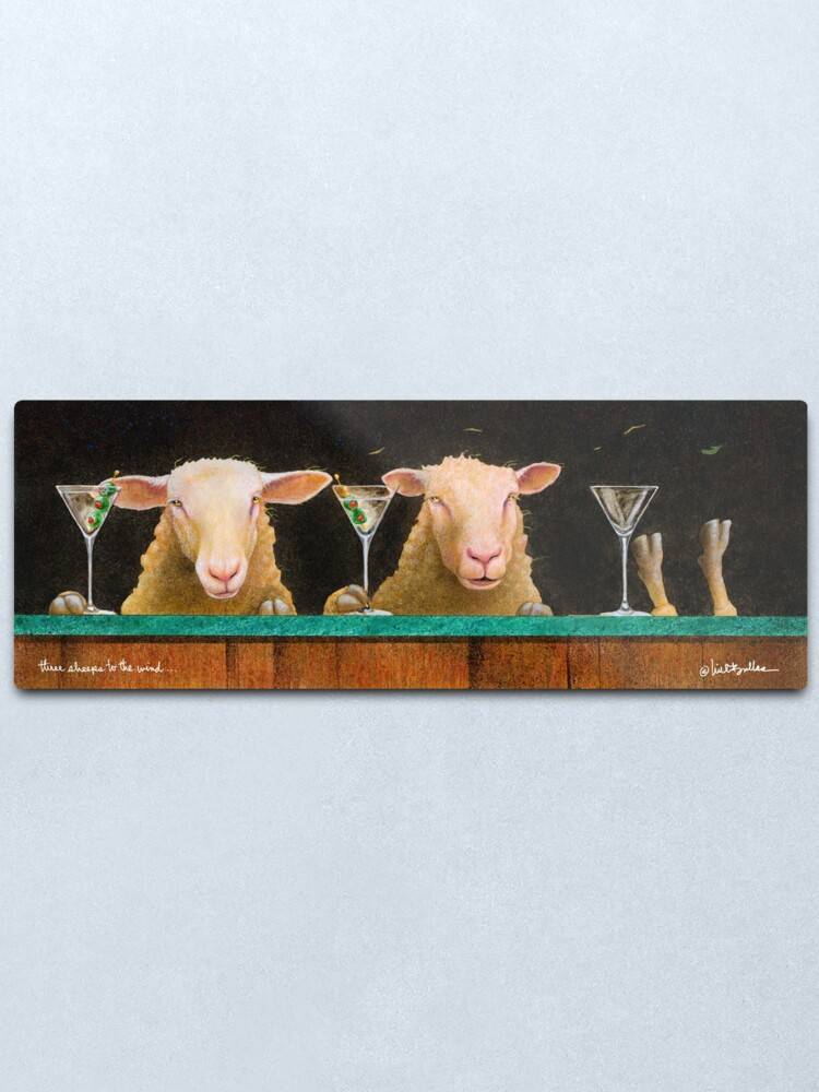 Alternate view of Will Bullas / three sheeps to the wind... Metal Print