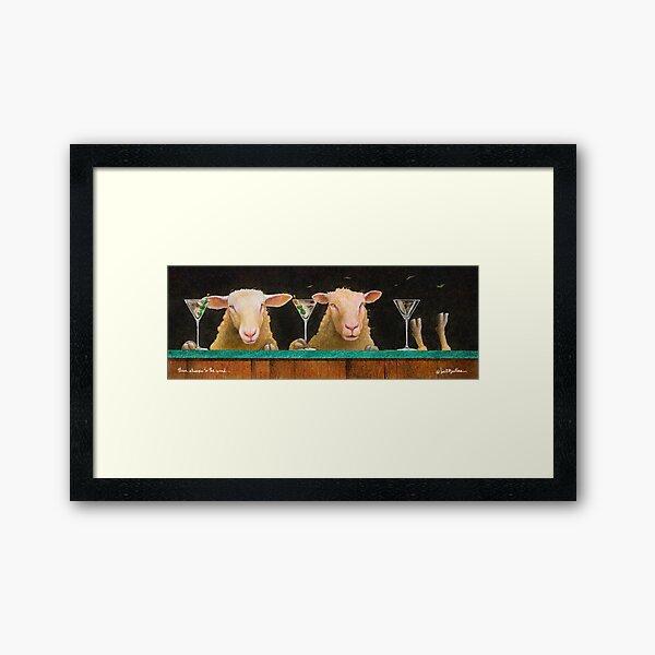 Will Bullas / three sheeps to the wind... Framed Art Print