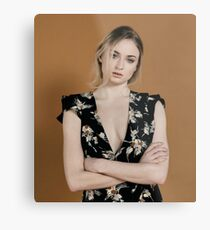 Celebrity: Sophie Turner Metal Print