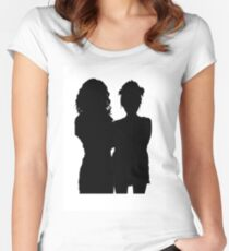 Bea Smith and Debbie Smith sihouette Women's Fitted Scoop T-Shirt