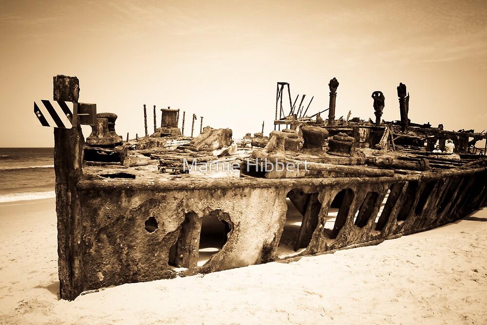 Maheno Shipwreck One by Marnie Hibbert