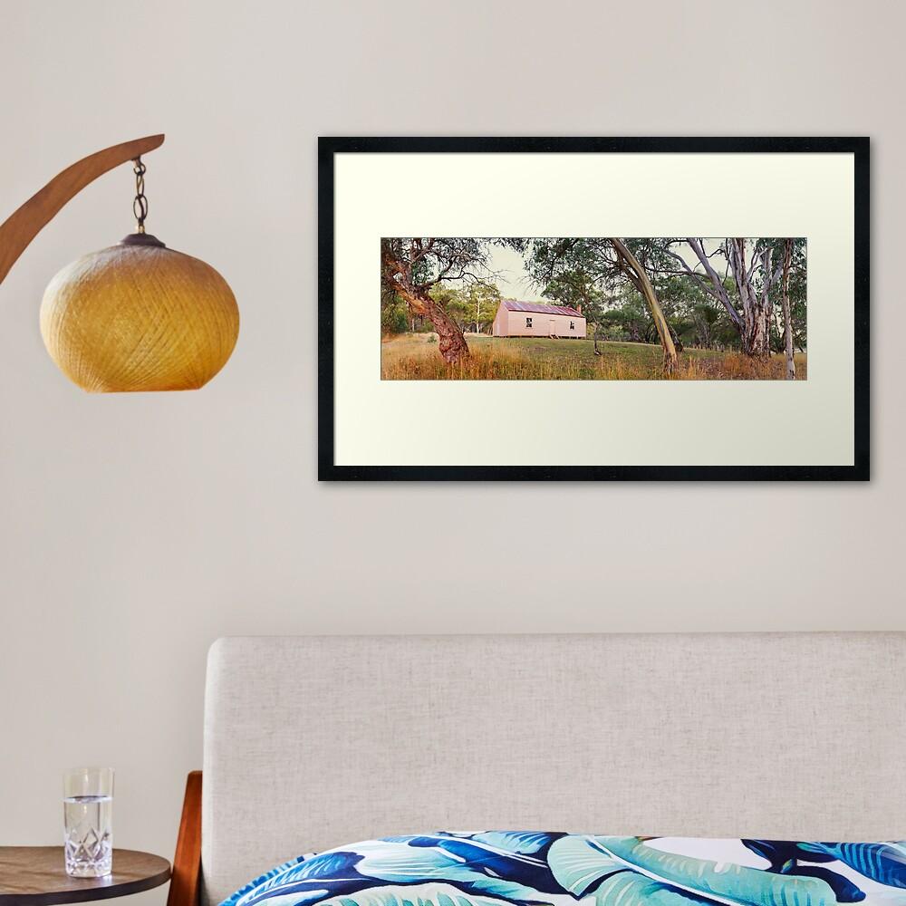 Long Plain Hut, Kosciuszko National Park, New South Wales, Australia Framed Art Print