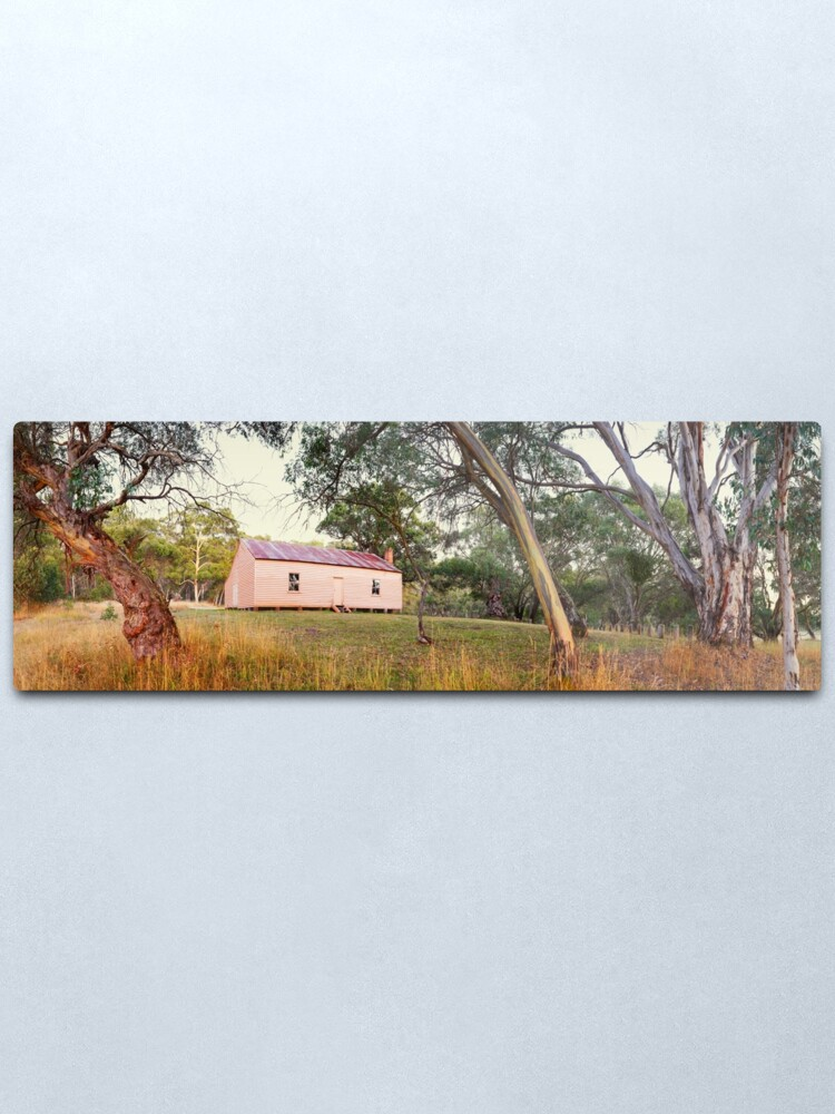 Alternate view of Long Plain Hut, Kosciuszko National Park, New South Wales, Australia Metal Print