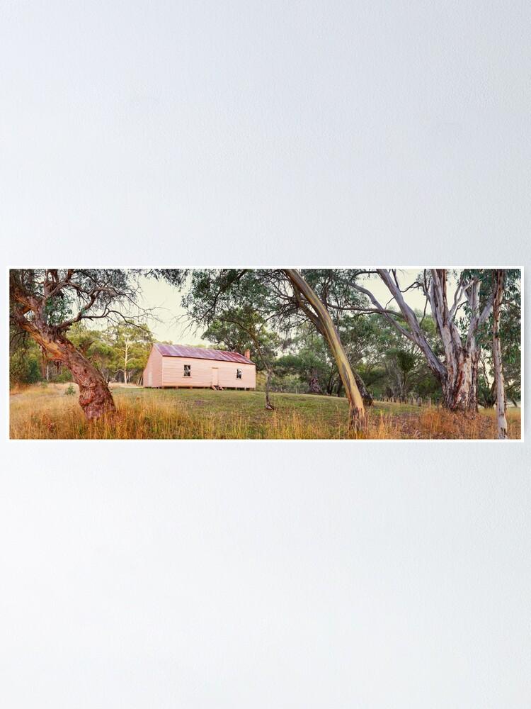 Alternate view of Long Plain Hut, Kosciuszko National Park, New South Wales, Australia Poster