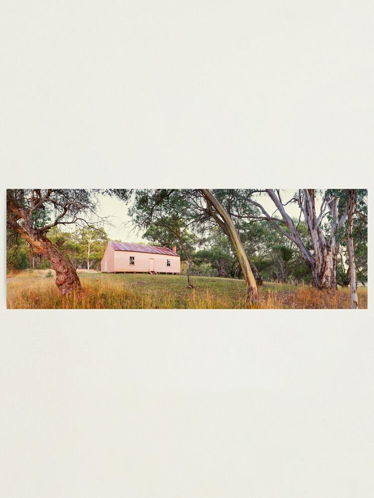 Alternate view of Long Plain Hut, Kosciuszko National Park, New South Wales, Australia Photographic Print