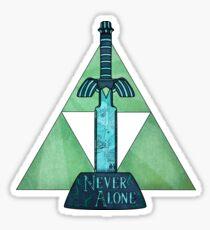 Never Alone Sticker