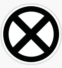 X Logo Sticker