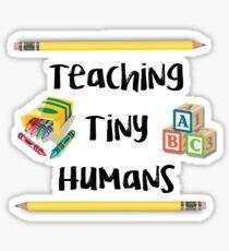 Teaching Tiny Humans - Blocks/Crayons Sticker