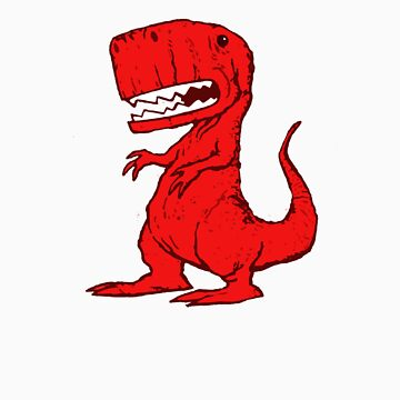 Big Red Dinosaur by ButcherBrand