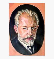 portrait of Tchaikovsky after old masterpiece Photographic Print