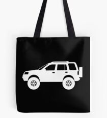 Lifted 4x4 offroader - for Land Rover Freelander 1st gen enthusiasts Tote Bag