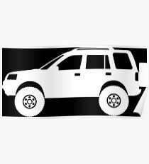Lifted 4x4 offroader - for Land Rover Freelander 1st gen enthusiasts Poster