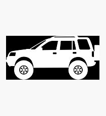 Lifted 4x4 offroader - for Land Rover Freelander 1st gen enthusiasts Photographic Print