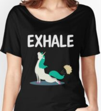 Exhale Yoga Unicorn Women's Relaxed Fit T-Shirt