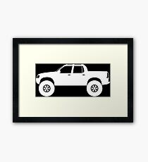 Lifted 4x4 offroader - for Ford Explorer Sport Trac 1st gen 2001–2005 enthusiasts Framed Print