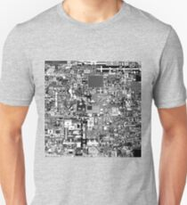 Reddit r/Place 10K resolution Official r/TheFinalClean Cleaned Version – Monochrome Unisex T-Shirt