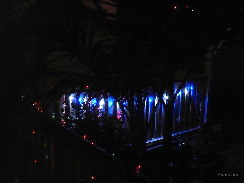 SHADOWS AND CHRISTMAS LIGHTS by Ekascam