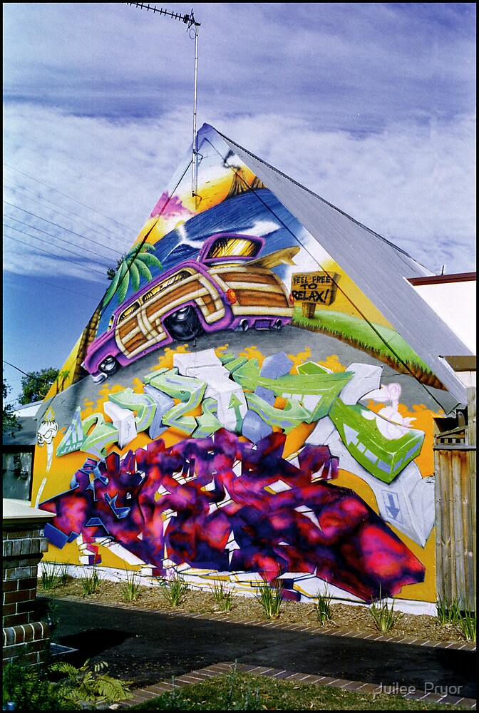 graffitti house newtown  by Juilee  Pryor
