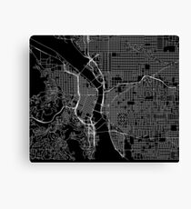 Portland Street Map Canvas Print