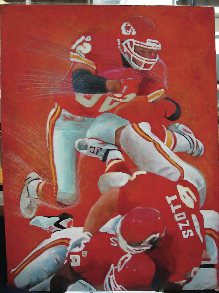 football- arcylic and colour pencil by wingyinchan