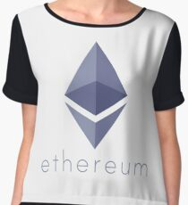 Ethereum Logo (with Text) Chiffon Top