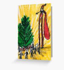 Santa on Stilts Greeting Card