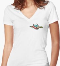 Capt'n Flap Women's Fitted V-Neck T-Shirt