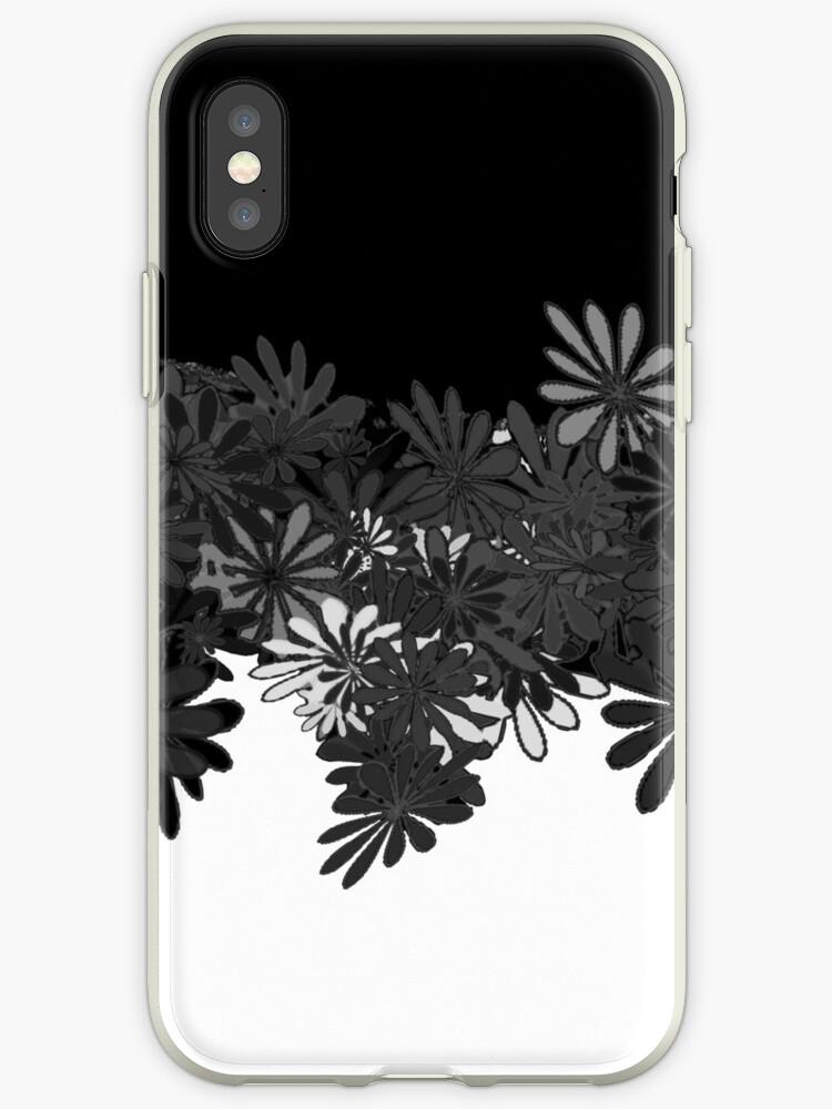 Schwarz-weißes graues desaturated Blumendesign von BeckyNola504